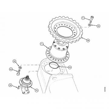Case SR210 2-SPD Reman Hydraulic Final Drive Motor