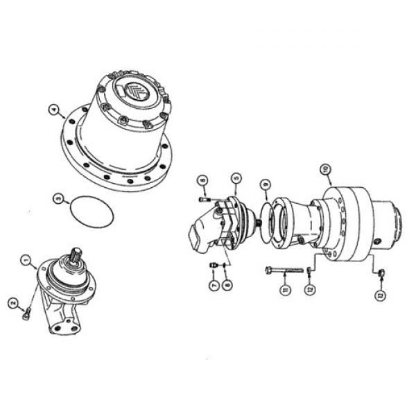Case SR250 1-SPD Reman Hydraulic Final Drive Motor #3 image