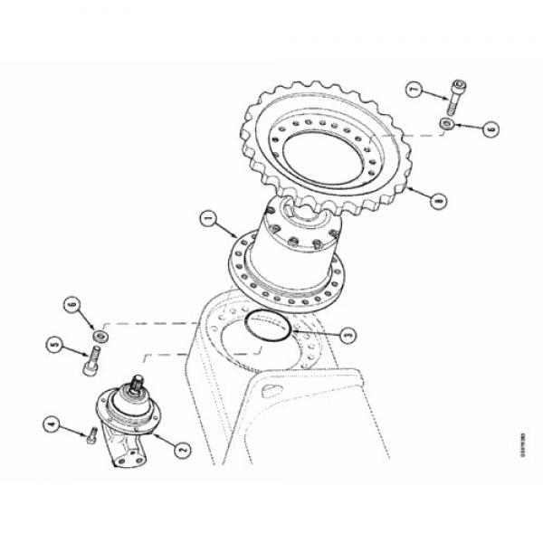Case PU15V00021F1 Hydraulic Final Drive Motor #1 image