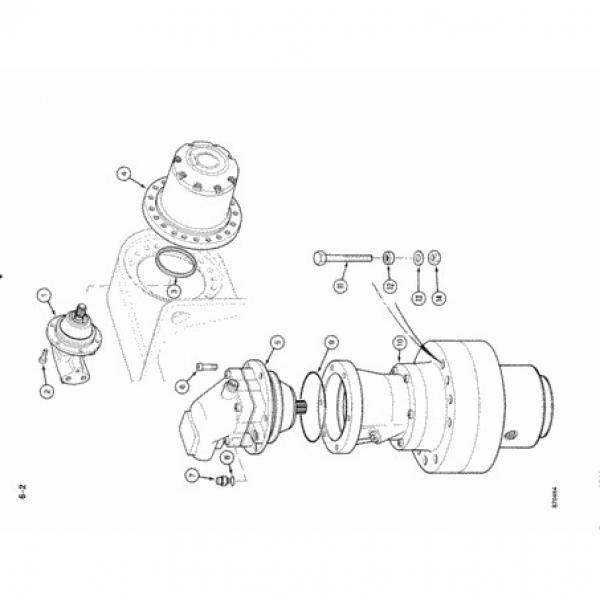 Case PX15V00025F1 Hydraulic Final Drive Motor #2 image