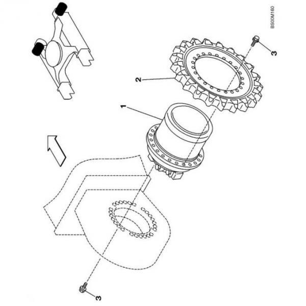 Case IH AFX 8010 1-SPD Reman Hydraulic Final Drive Motor #1 image