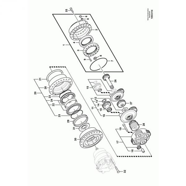 Kobelco SK130LC-4 Hydraulic Final Drive Motor #1 image